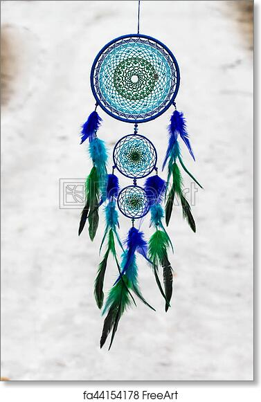 Watercolor Dreamcatcher Deer Feathers Canvas Poster Art Painting Wall Decor
