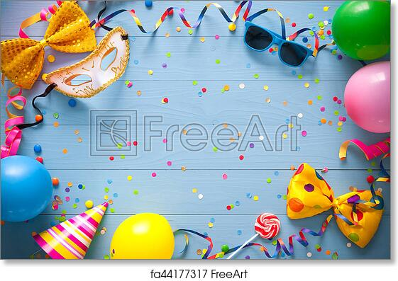 Free Art Print Of Colorful Birthday Or Carnival Background Colorful