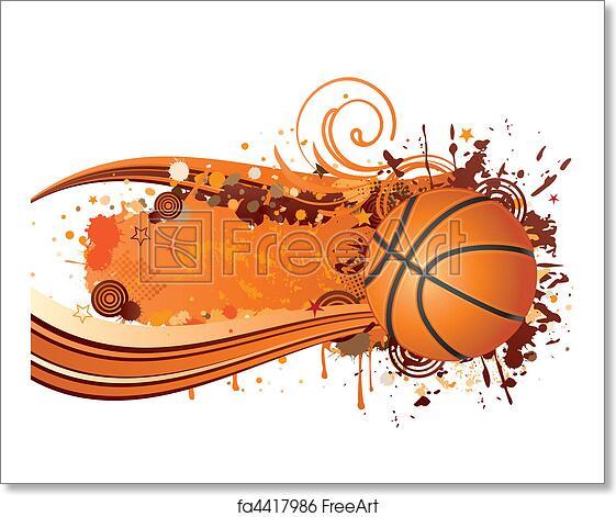 free art print of basketball background design basketball sport