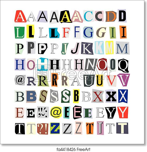 Free art print of alphabet cut out of paper illustration of free art print of alphabet cut out of paper spiritdancerdesigns Gallery