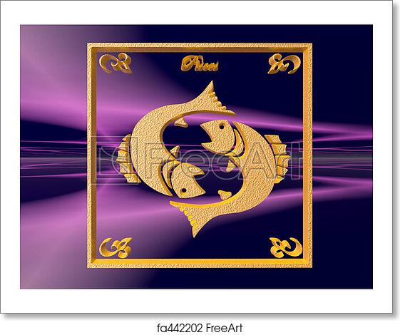 Free art print of Horoscope, Pisces