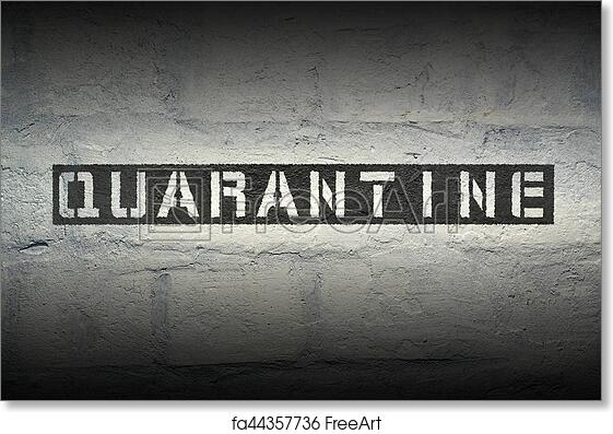 picture about Quarantine Sign Printable named Cost-free artwork print of Quarantine Phrase GR