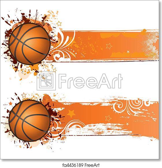 free art print of basketball background vector basketball design