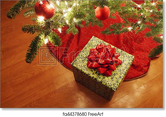 Free Art Print Of Wrapped Present Under A Christmas Tree Presents
