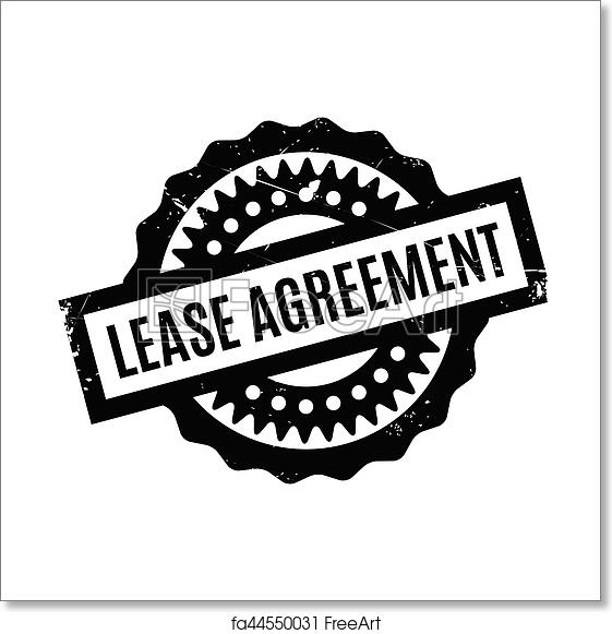 Free Art Print Of Lease Agreement Rubber Stamp