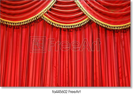 Free Art Print Of Theatre Curtains
