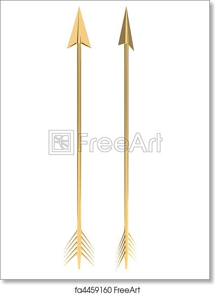 photo relating to Printable Arrows named Totally free artwork print of Golden arrow