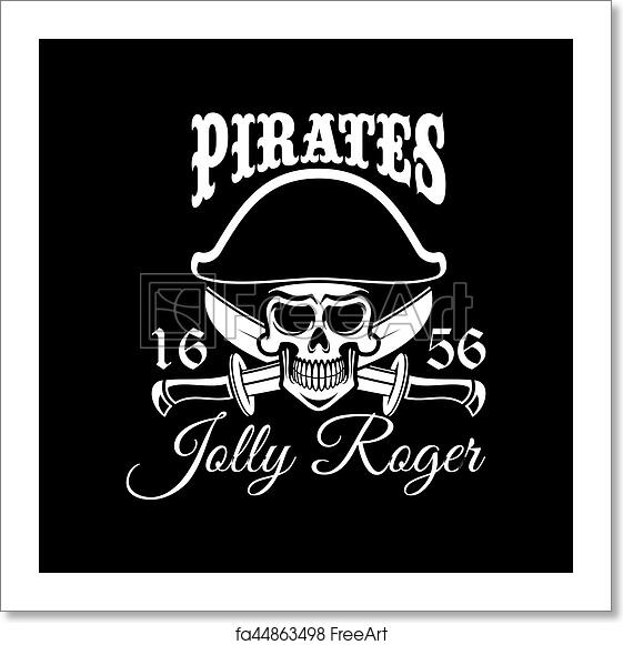 Free Art Print Of Jolly Roger Pirate Vector Flag Or Poster