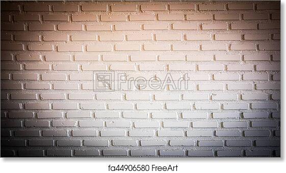 Free Art Print Of Warm Red Spotlight On Brick Wall With Dark Corner