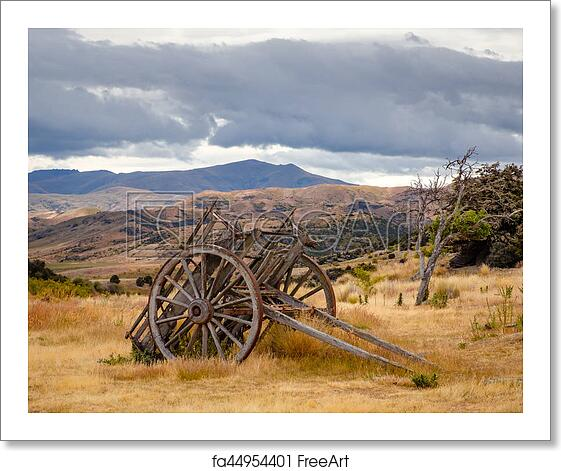Free art print of Remains of old miners abandoned town, Bendigo, New Zealand