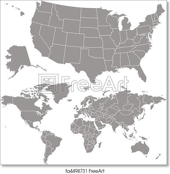 Vector Usa Map On Globe Maps Usa Map Images - Usa globe map