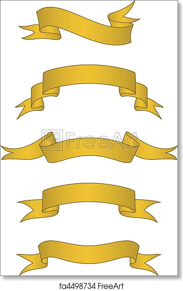 free art print of vector scroll banner set set of detailed gold rh freeart com vector scroll border vector scroll free