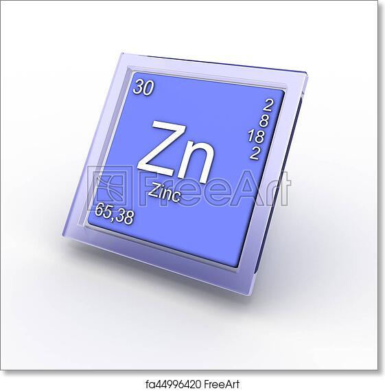 Free Art Print Of Zinc Chemical Element Sign Zinc Chemical Element