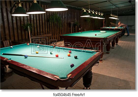 Free Art Print Of American Billiards And Pool Balls And Cue In The - Us billiards pool table
