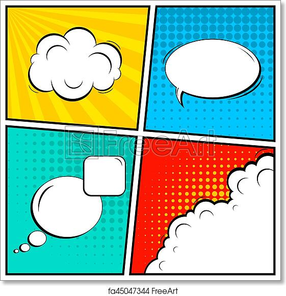 Free Art Print Of Abstract Creative Concept Vector Comic Pop Art