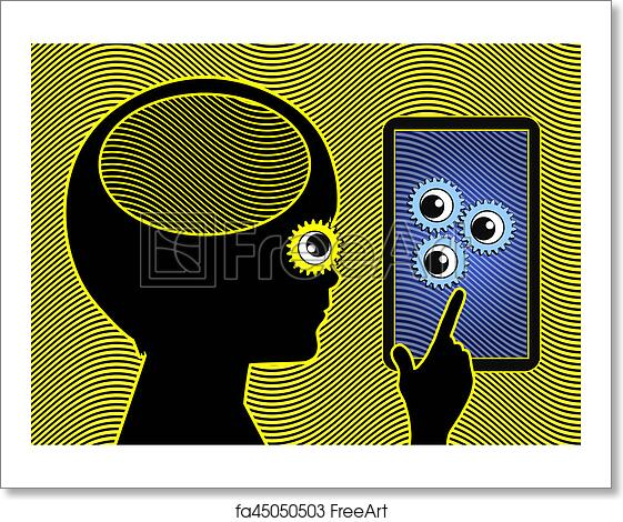 Free art print of Cell Phone affects the Brain