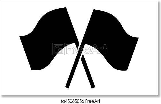 free art print of pictogram finish line finishing line flag