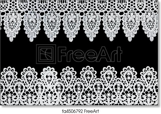 free art print of lace borders white lace forms a delicate border
