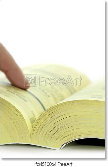 free art print of yellow pages yellow pages telephone directory