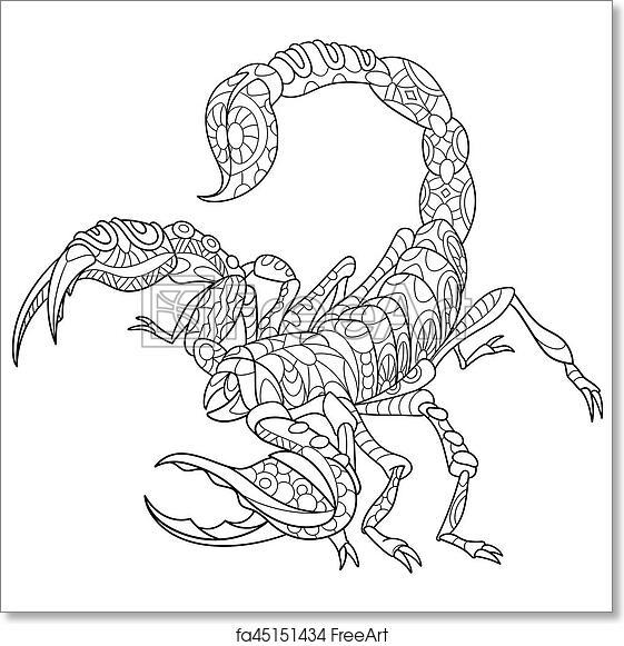 Free Art Print Of Zentangle Stylized Scorpio Zentangle Stylized