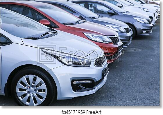 Free art print of Cars For Sale Stock Lot Row