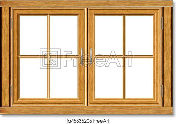 Free Art Print Of Wooden Window Frame