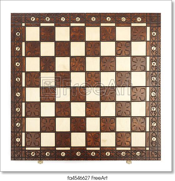 picture relating to Chess Board Printable known as No cost artwork print of Chess Board