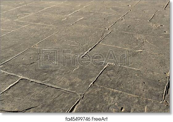 Free Art Print Of Stamped Concrete Pavement Outdoor Mimics