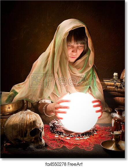 Free art print of Astrology gypsy with crystal ball