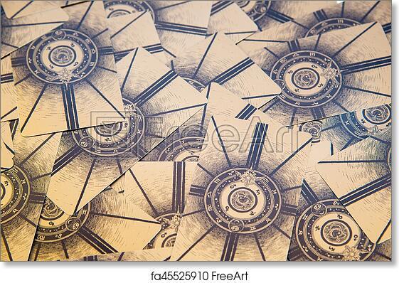 photo regarding Printable Tarot Cards identified as Free of charge artwork print of Tarot playing cards. Labirinth tarot deck. Esoteric historical past.