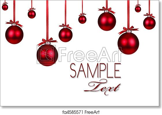 Christmas Ornaments Background.Free Art Print Of Red Christmas Holiday Ornament Background