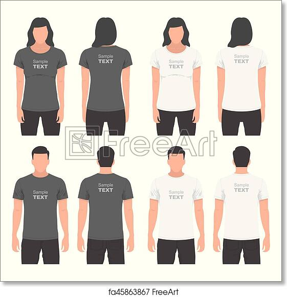 Free Art Print Of Mens And Womens T Shirt Design Template T Shirt