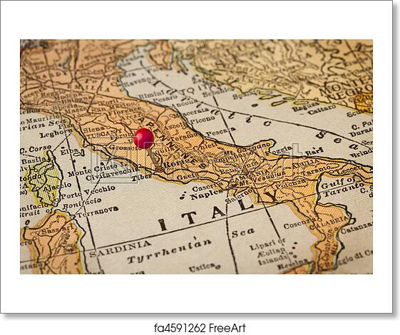 Free Map Of Italy.Free Art Print Of Rome And Italy Vintage Map Italy Vintage 1920s