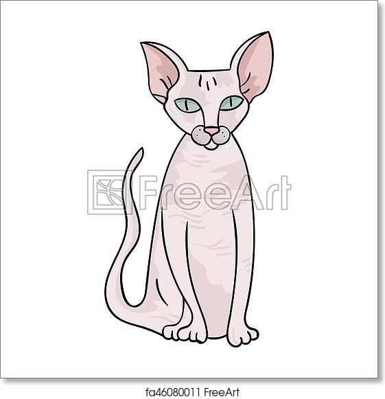 Free Art Print Of Peterbald Icon In Cartoon Style Isolated On White