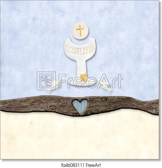 Free Art Print Of The Symbols Of The First Communion The Chalice