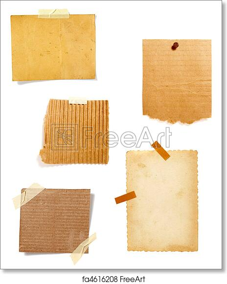 Free Art Print Of Brown Old Paper Note Background