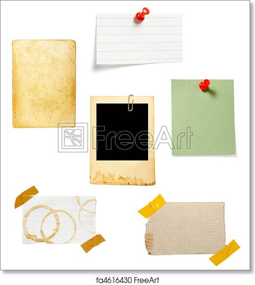 431bbf21a8c76 Free art print of Brown old paper note background. Collection of old note  paper on white background. each one is in full cameras resolution | FreeArt  | ...