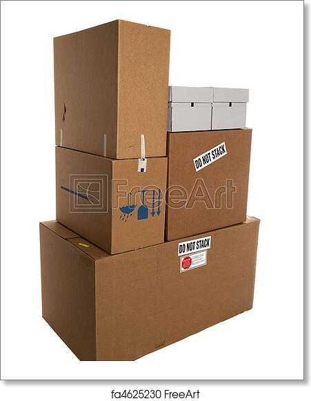 free art print of do not stack boxes stacked boxes with stackers