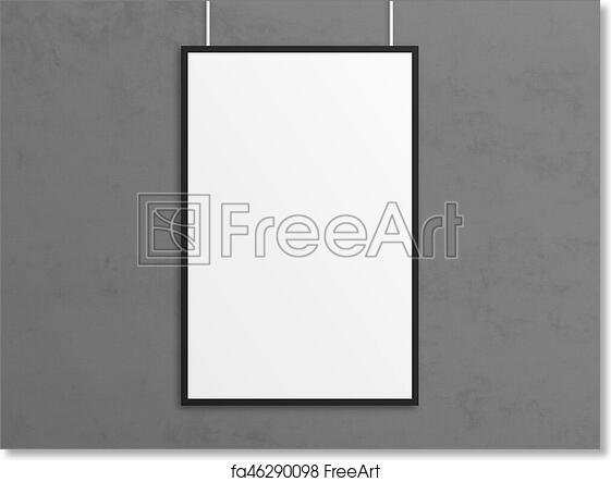 Free Art Print Of Empty 3d Illustration Tabloid Poster Mockup With