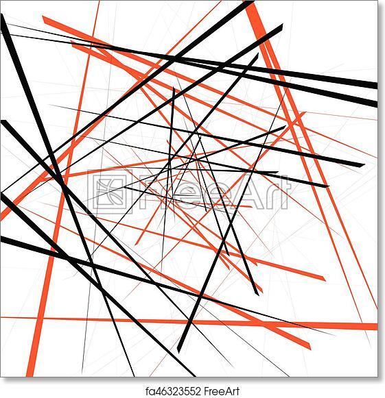 Free Art Print Of Geometric Illustration With Random Intersecting Lines Editable Abstract Art
