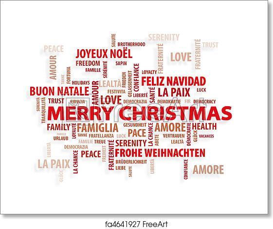 Christmas Card Printing.Free Art Print Of Christmas Magic Words