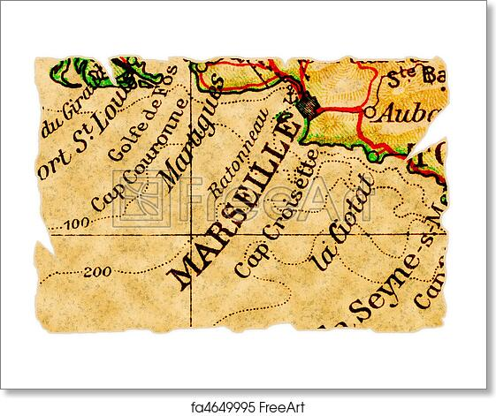 Old Map Of France.Free Art Print Of Marseille Old Map