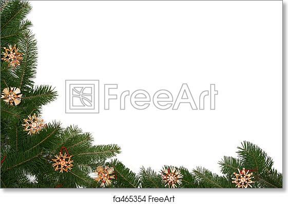 Free art print of Christmas tree frame. Christmas tree twigs with ...