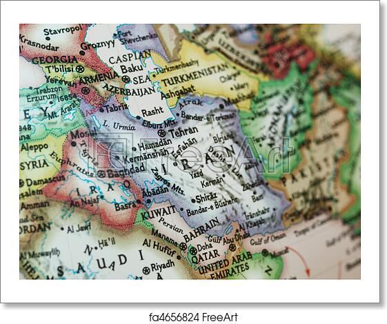Free art print of iran iraq map map with iraq and iran with free art print of iran iraq map gumiabroncs Choice Image