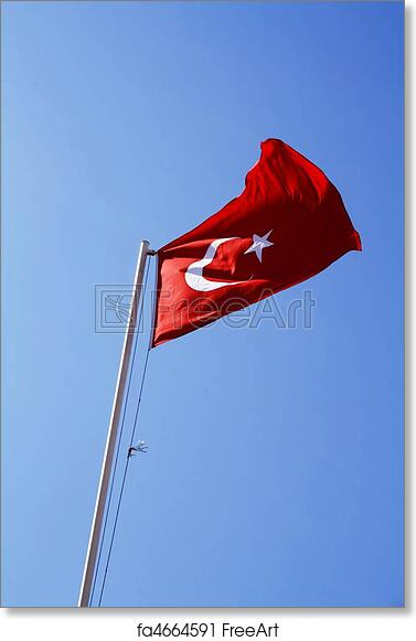 free art print of turkish flag the national flag of the republic of