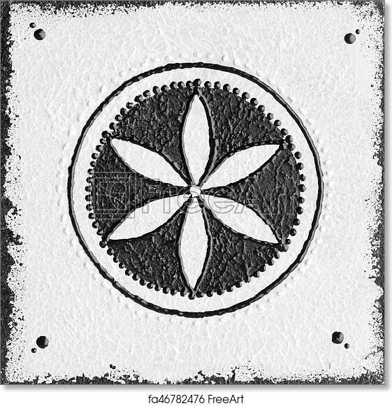 Free art print of Monochrome seed of life symbol