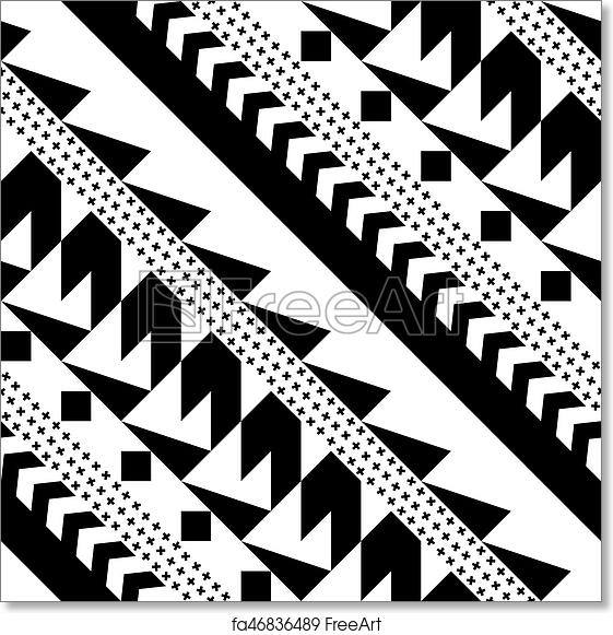 Free Art Print Of Seamless Geometric Pattern Repeating Ethnic