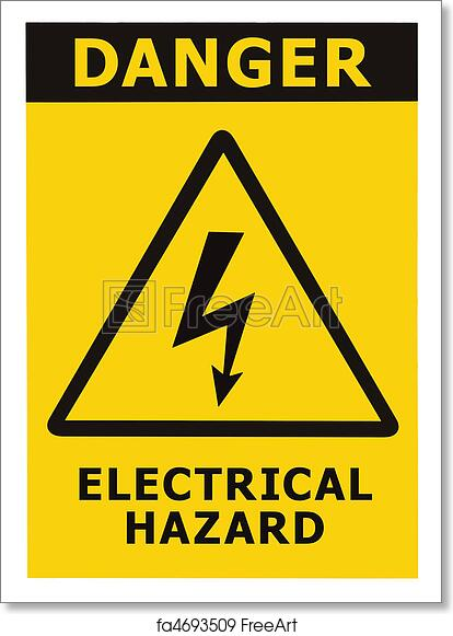 Free Art Print Of Danger Electrical Hazard Sign With Text