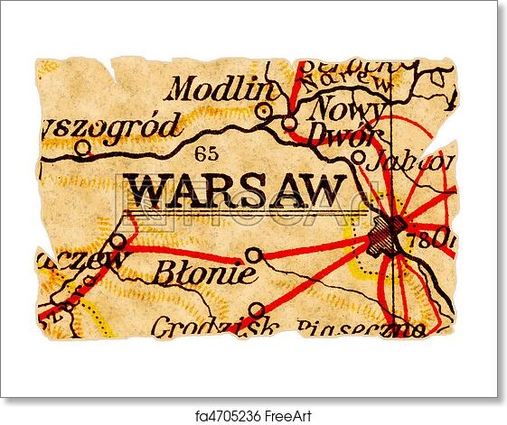 Free art print of Warsaw old map The Old Map Of Poland on