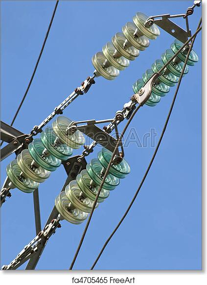 Free art print of High voltage electrical insulator